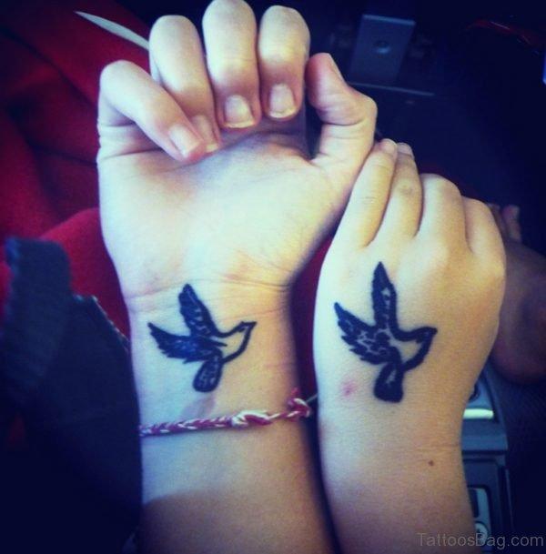 Beautiful Small Birds Tattoo