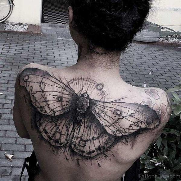 Bee Tattoo Design On Back