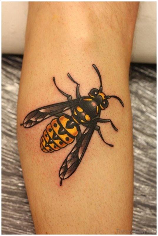 Bee Tattoo On Arm