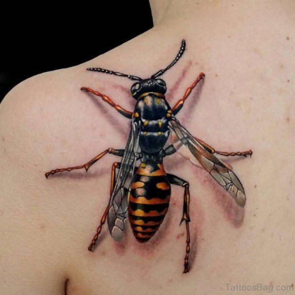 Bee Tattoo On Back