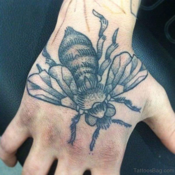 Bee Tattoo On Hand
