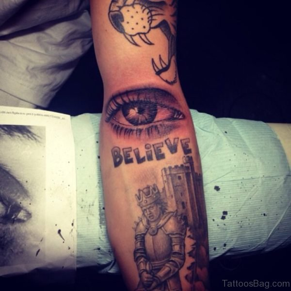 Believe Eye Tattoo