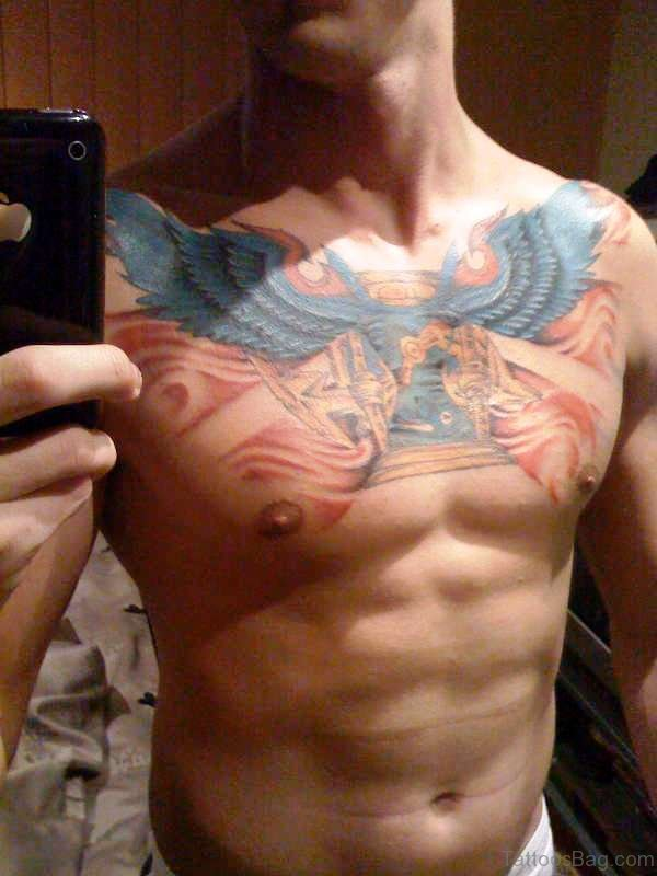 Best Blue Bird Tattoo On Chest
