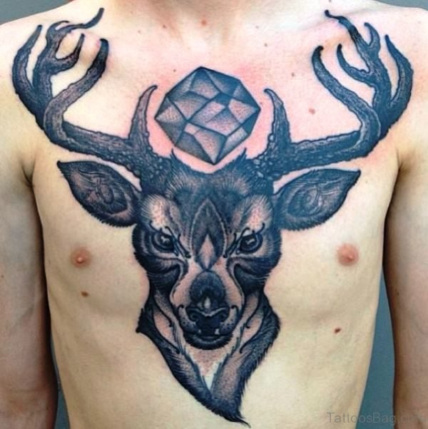 Best Buck Tattoo On Chest