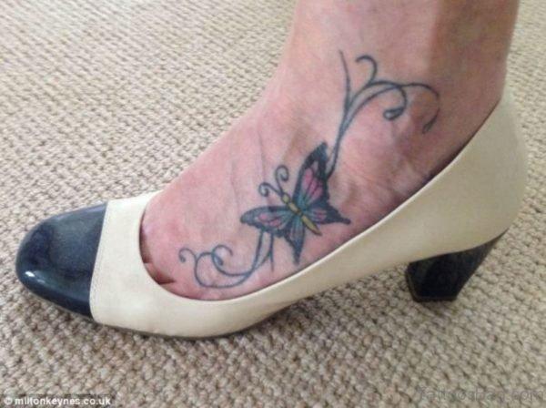 Best Butterfly Tattoo On Foot