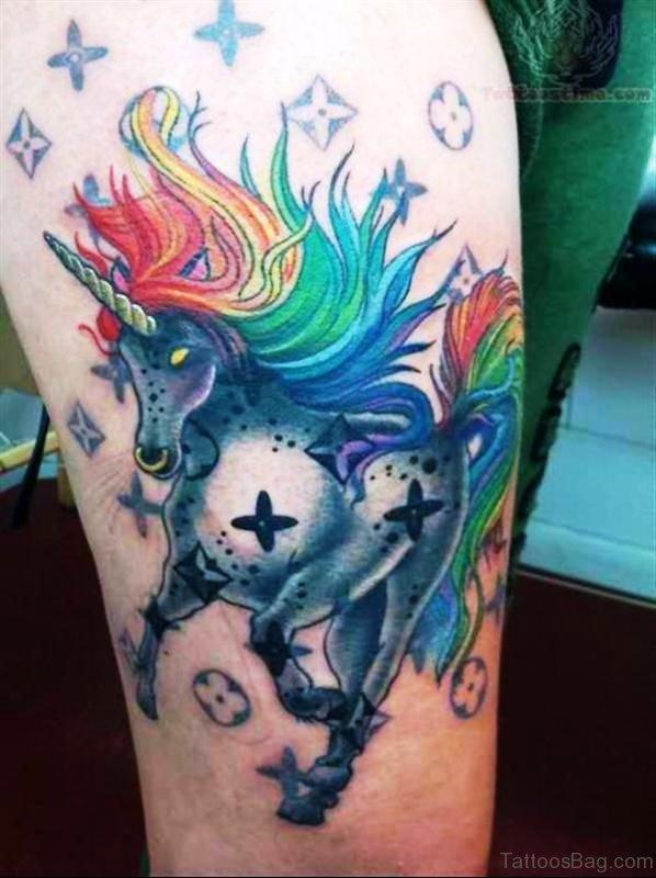 Best Colorful Unicorn Tattoo On Arm