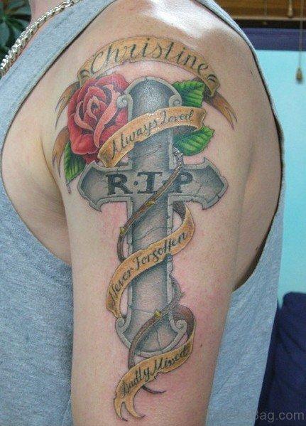 Best Cross Tattoo On Shoulder