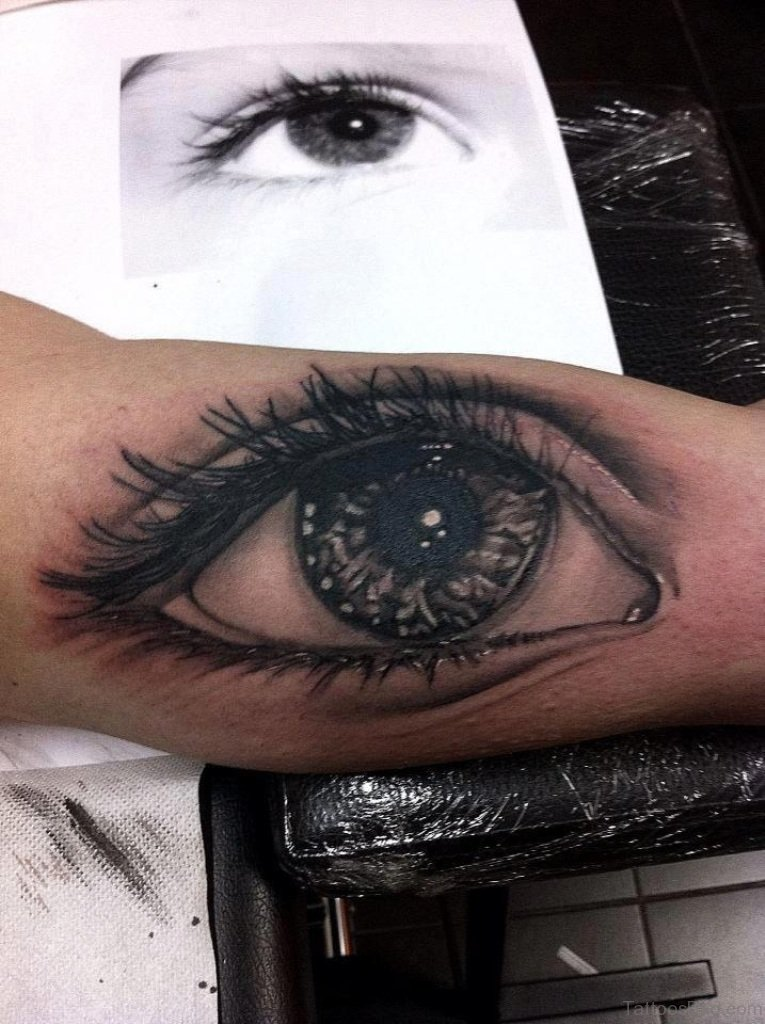 Best Eye Makeup Tips And Tricks For Small Eyes: 61 Mind Blowing Eye Tattoos On Arm