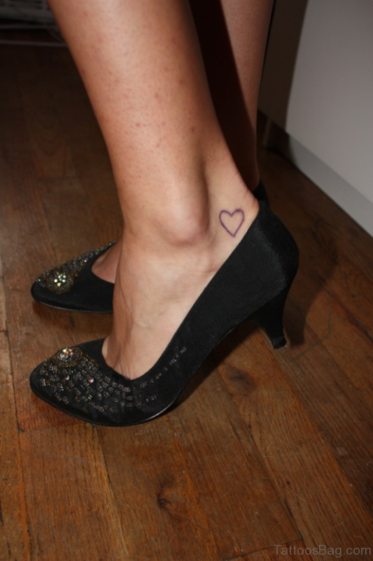 Best Heart Tattoo On Ankle