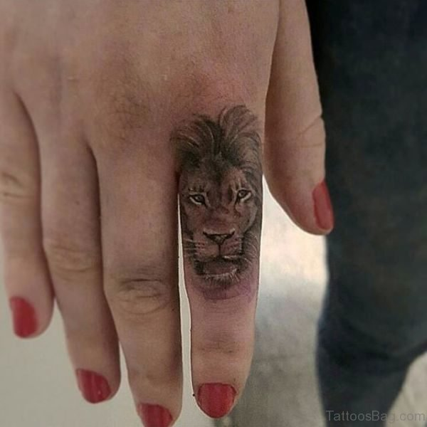 Best Lion Tattoo On Finger