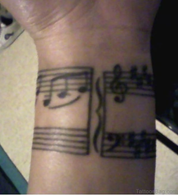 Best Music Notes Tattoo On Wrist