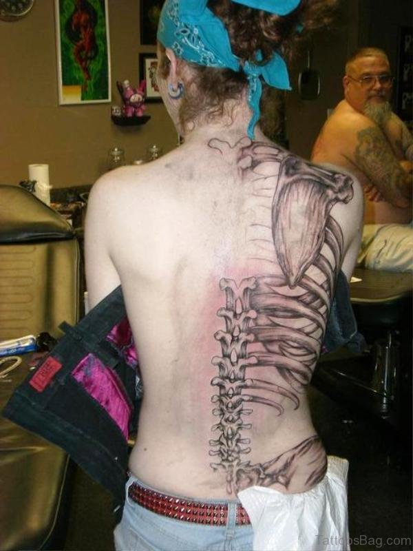 Best Skeleton Tattoo On Back