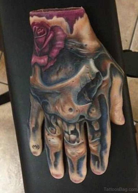 Best Skull Hand Tattoo