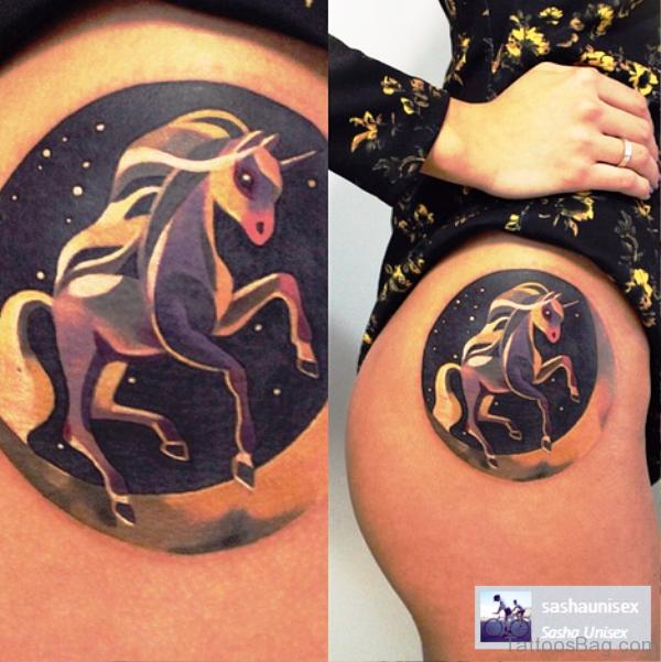 Best Unicorn Tattoo On Hip