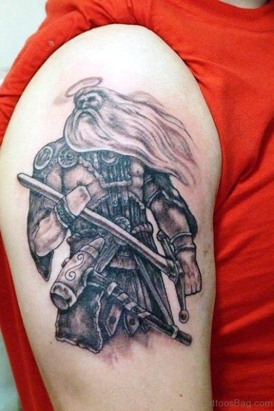 Best Warrior Tattoo On Shoulder