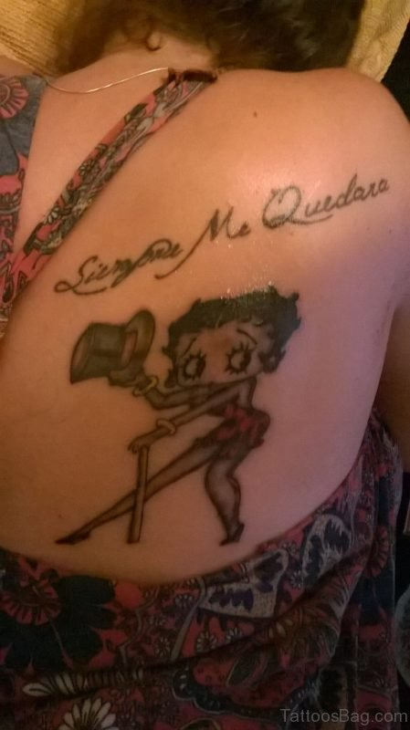 Betty Boop Tattoo Design On Back