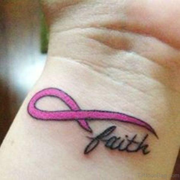 Beautiful Faith Tattoo On Wrist