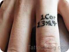 Bible Verse Tattoo On Finger
