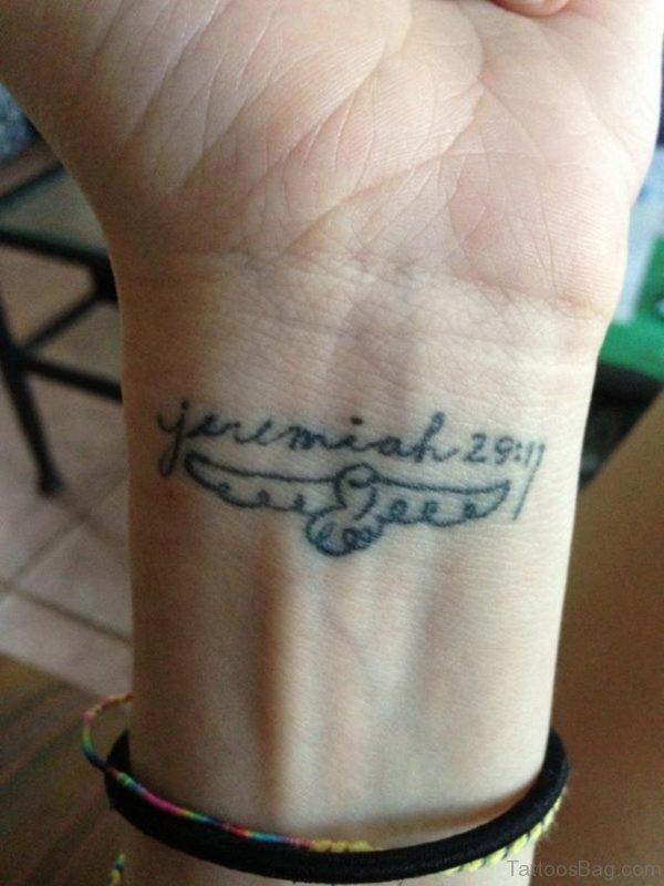 Bible Verses Tattoo On Wrist