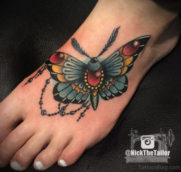 Big Colorful Butterfly Tattoo