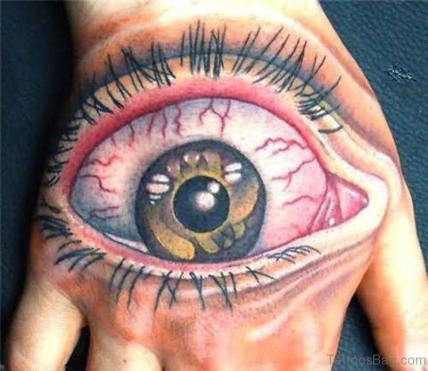 Big Eye Tattoo On Hand