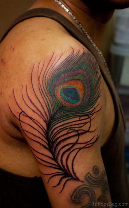 Big Peacock Feather Tattoo