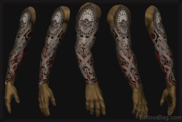 Bio Mechanical Full Sleeve Tattoo