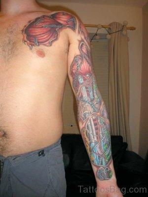 Bio Mechanical Tattoo Arm