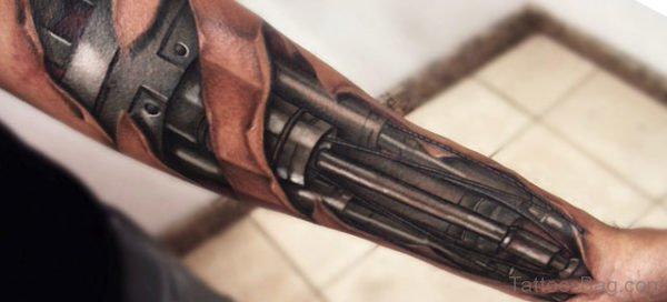 Bio Mechanical Tattoo On Wrist