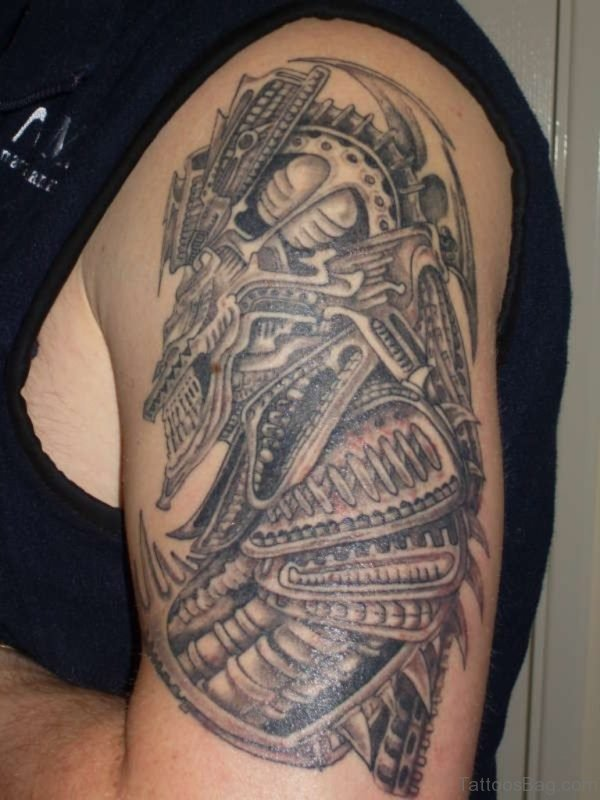 Biomechanical Alien Tattoo