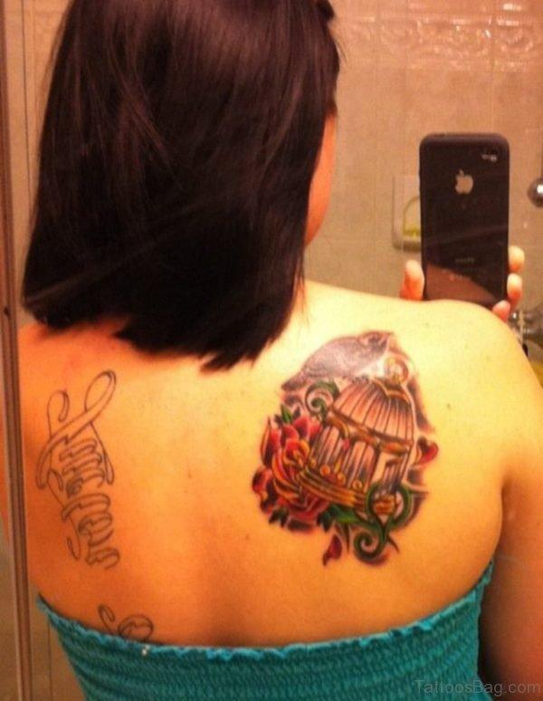 Bird And Cross Tattoo