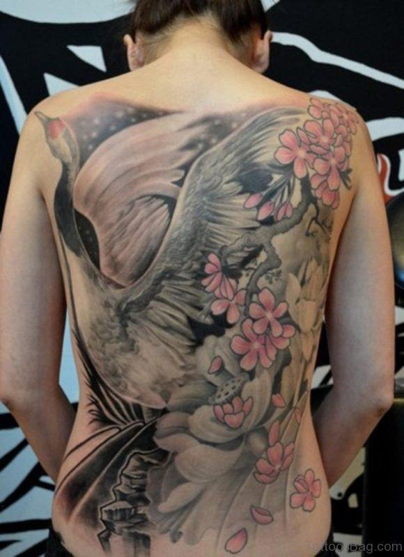 Bird Tattoo Design On Back