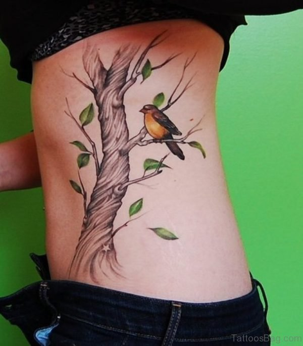 Bird And Tree Tattoo