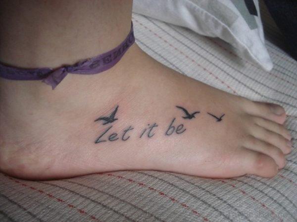 Bird Tattoo Design On Foot