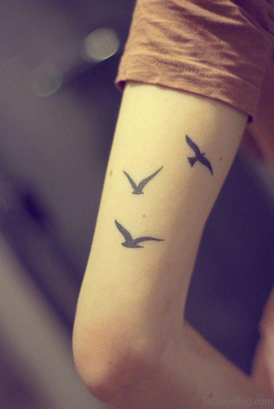 Bird Tattoo Design On Shoulder
