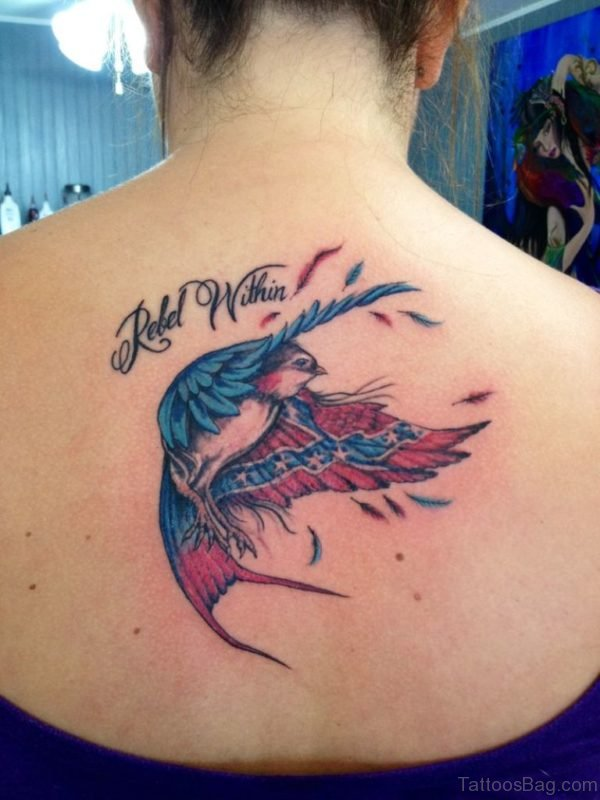 Bird Tattoo On Back