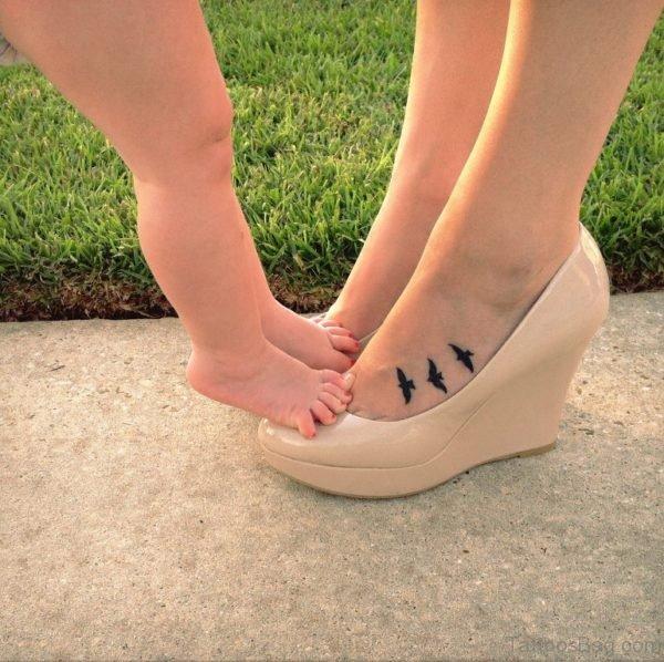 Bird Tattoo On Foot