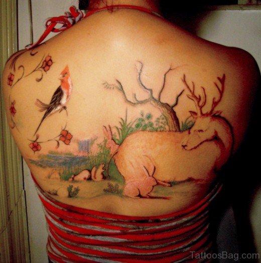 Bird Tatttoo On Back