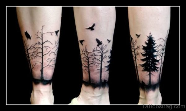 Birds And Tree Tattoo