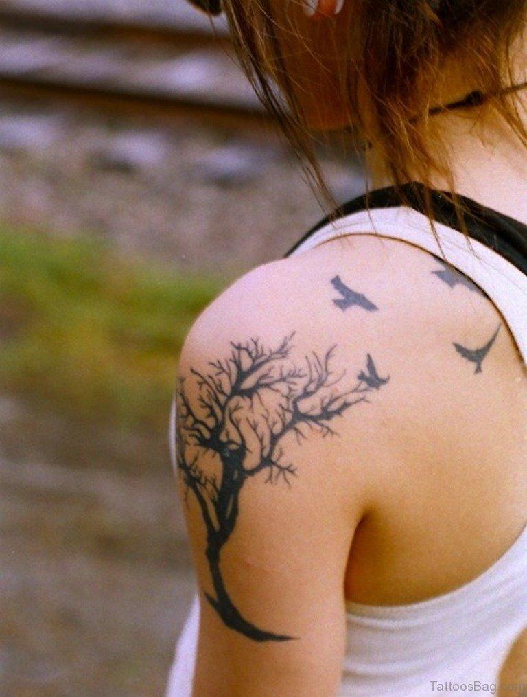 50 Stylish Tree Tattoos On Shoulder Tree Tattoos Shoulder