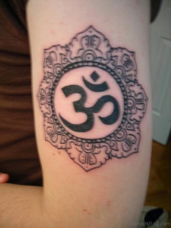 Bkack Om Tattoo