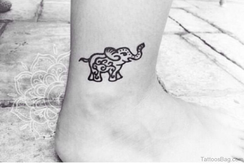 34 Superb Elephant Tattoos On Leg
