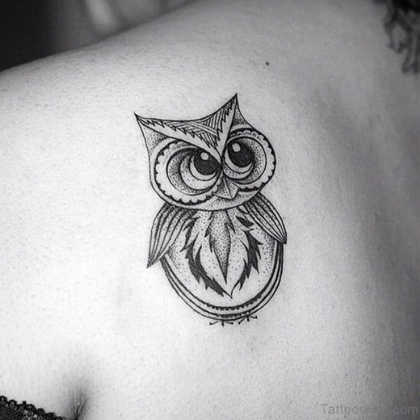 White owl tattoo