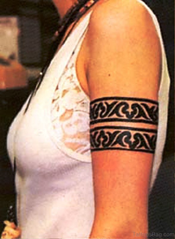 Black Band Tattoo On Arm