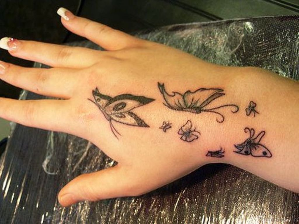 Mehndi Tattoo On Hand For Girls : 54 awesome butterfly tattoos on hand