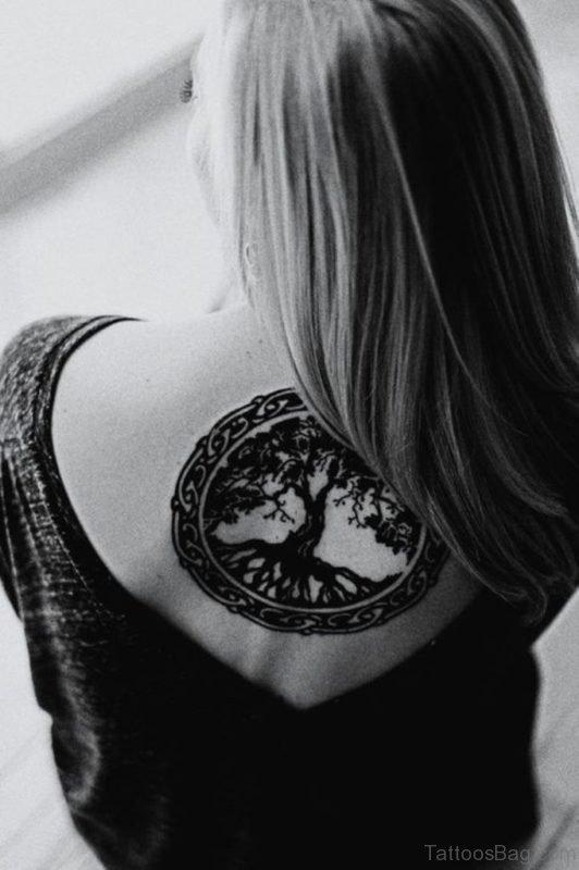 Black Celtic Tree Tattoo