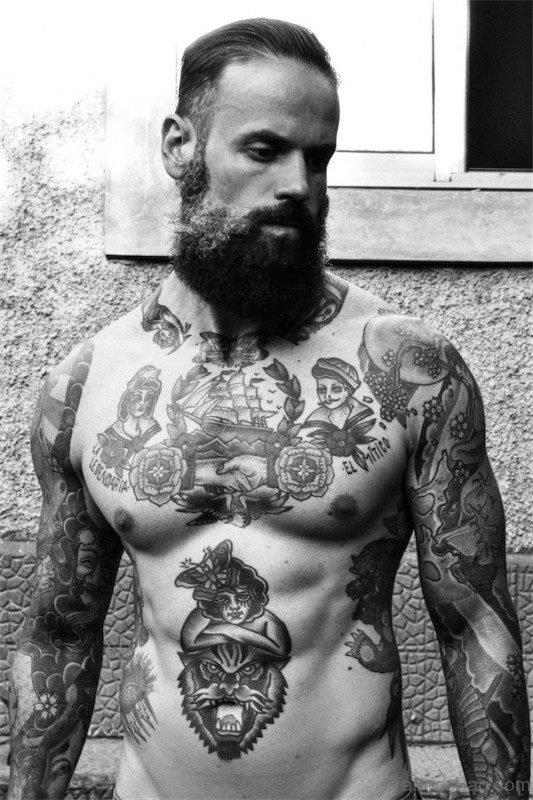 Black Chest Tattoo For Men
