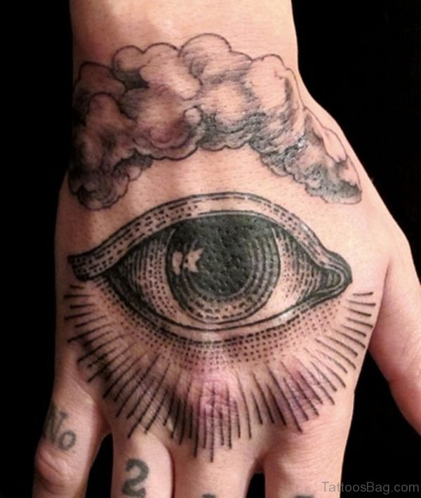 Black Eye Tattoo On Hand