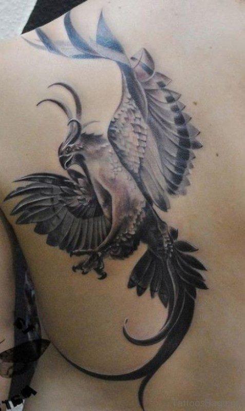 Black Grey Phoenix Tattoo