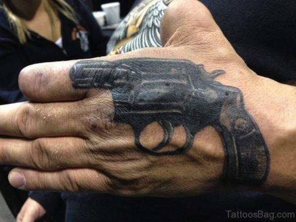 Black Gun Tattoo